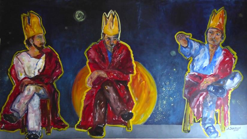 Drei Könige_150x300cm_2015_Acryl auf leinen